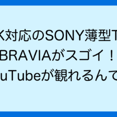 4K対応のSONY薄型TV BRAVIAがスゴイ! YouTubeが観れるんです